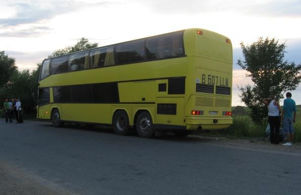 Желтый, двухэтажный автобус