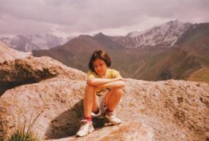 На вершине горы Кумбель 3200м