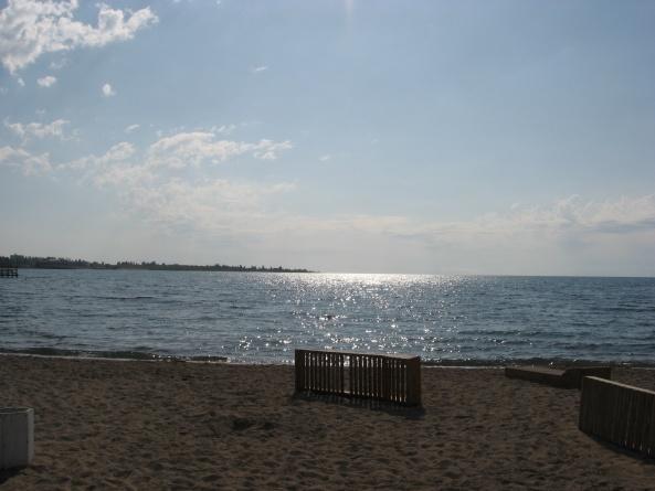 Пляж пансионата Акун