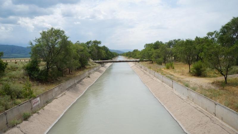 БАК - Большой алматинский канал в районе Иссыкского поворота