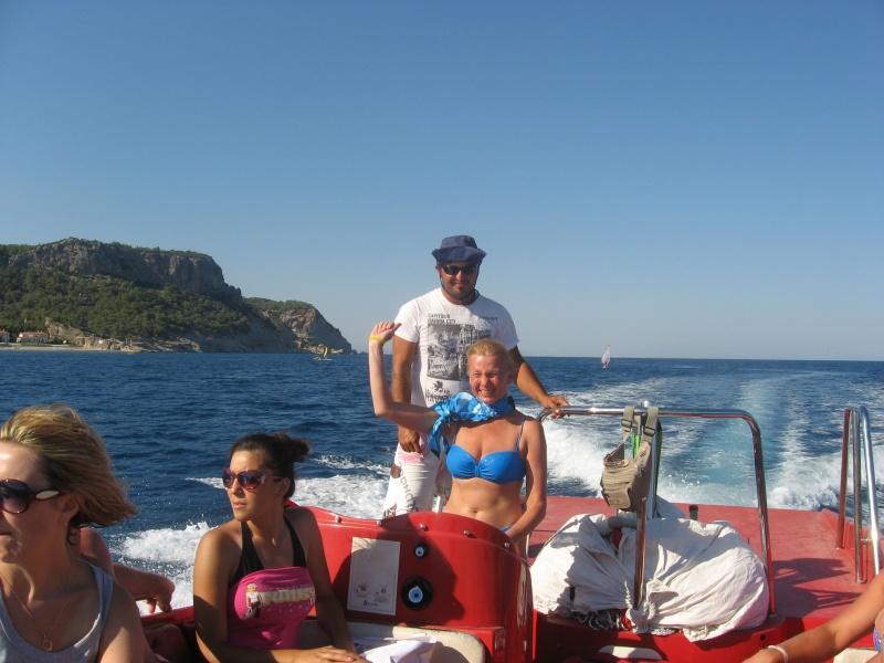 На катере в Турции