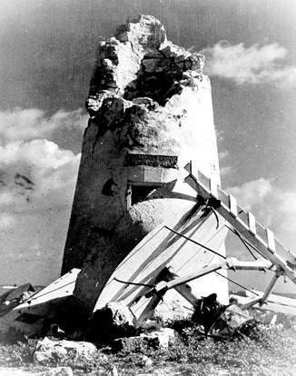 Руины маяка на острове Хауленд
