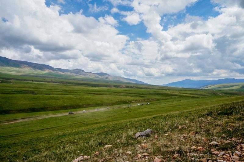 Плато Ассы, дорога в сторону Бартогайского водохранилища