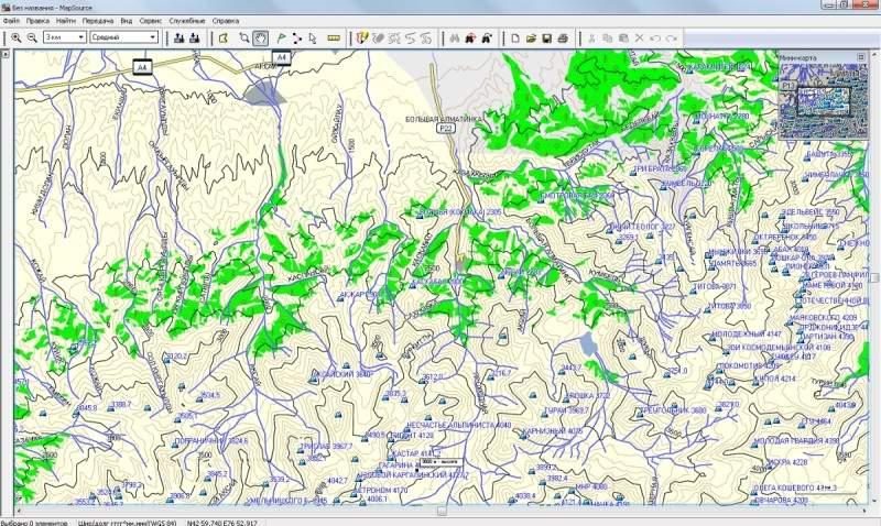 Разборка карт Garmin программой GmapTool