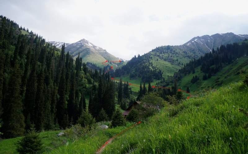 Путь от метеопоста в Горельнике до границы леса в сторону моренных озер