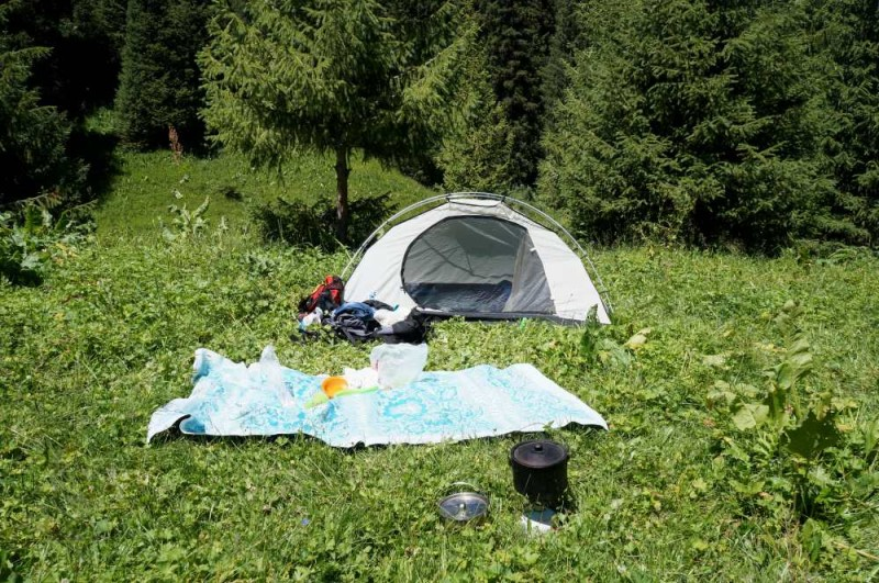 Наш маленький лагерь в горах