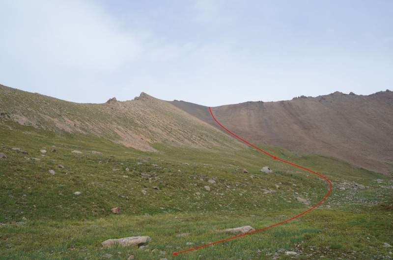 Перевал Беркут Тас (3610 м) со стороны Каргалинского ущелья