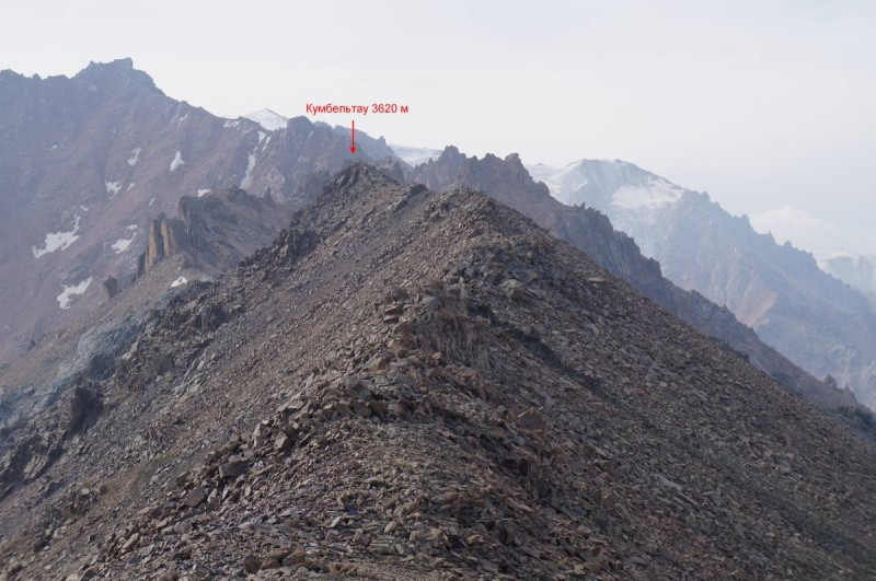 Вершина Кумбельтау (3620 м)