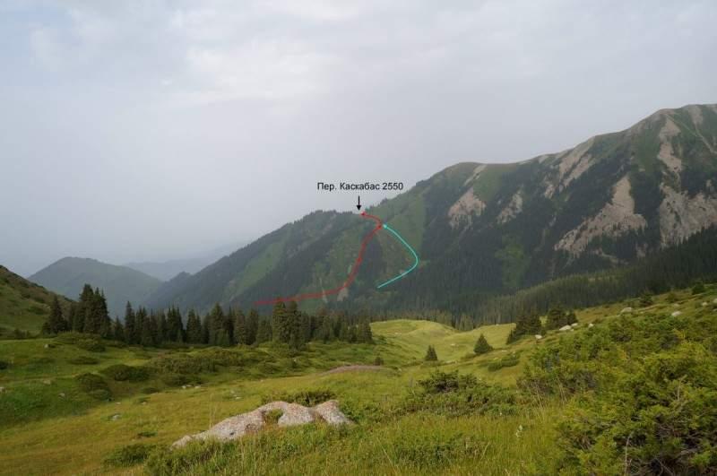 Лунная поляна и перевал Каскабас (2550м)
