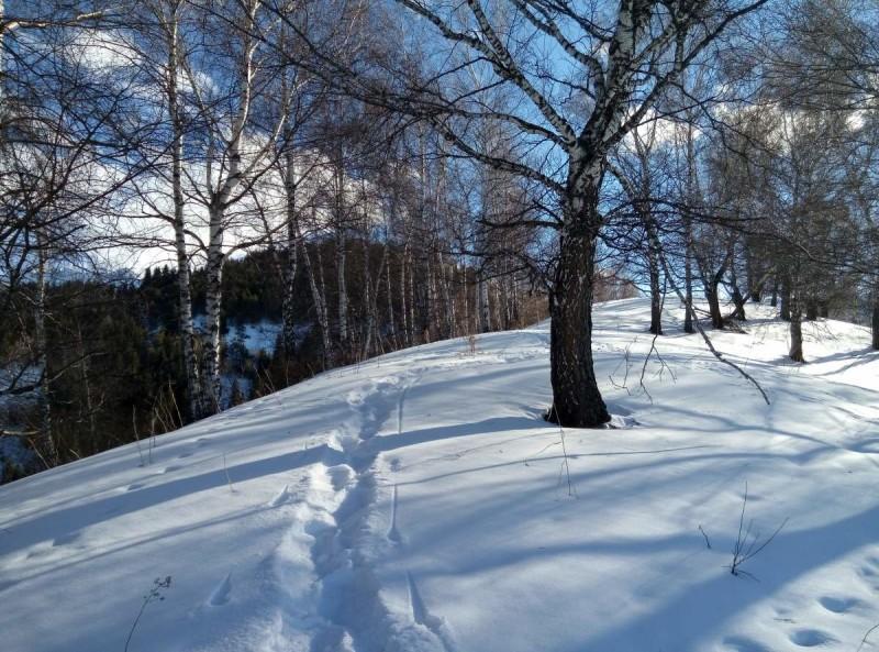 Зимой в горах Заилийского Алатау