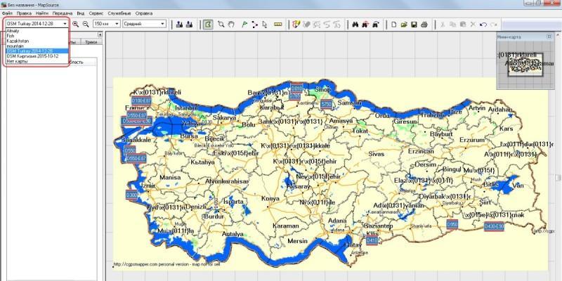 Установка векторных карт в Garmin, с помощью MapSource