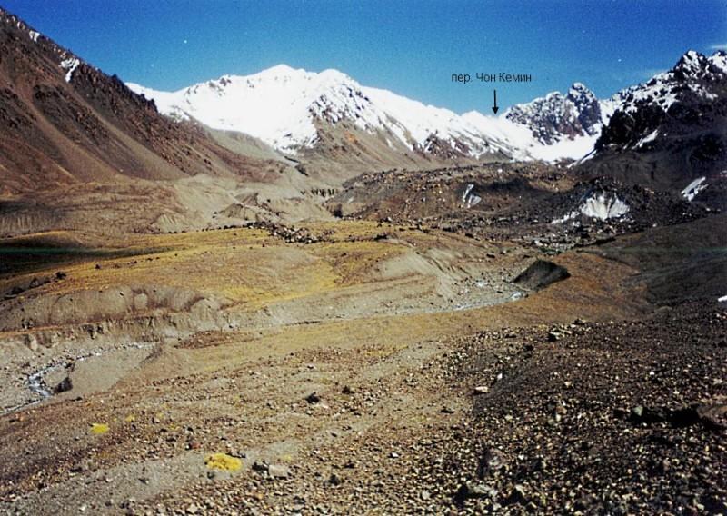 Перевал Чон Кемин, 1Б*, 4090 м со стороны ледн. Кеминский