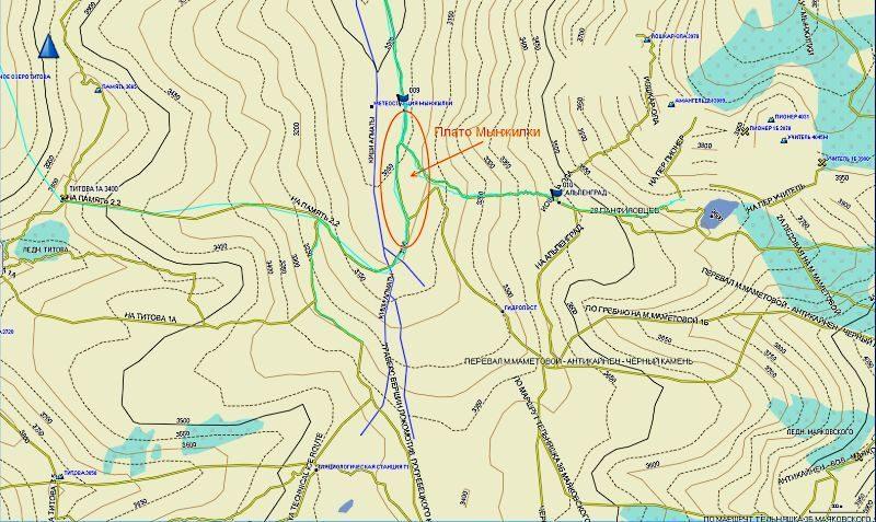 Плато Мынжилки на карте