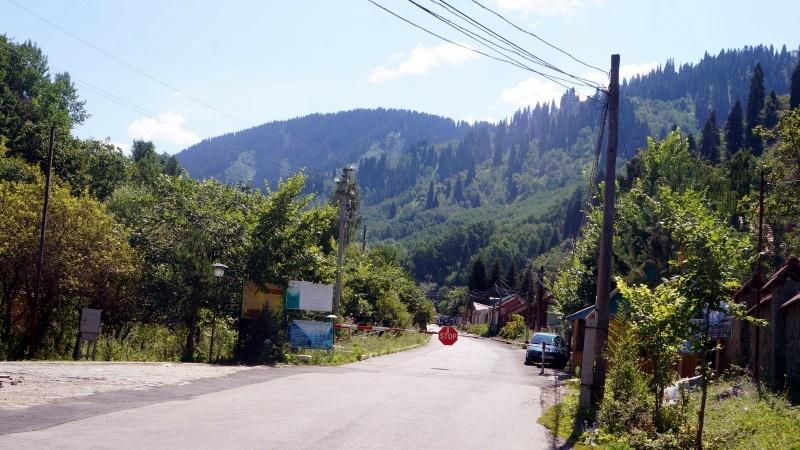 Шлагбаум в Бутаковском ущелье