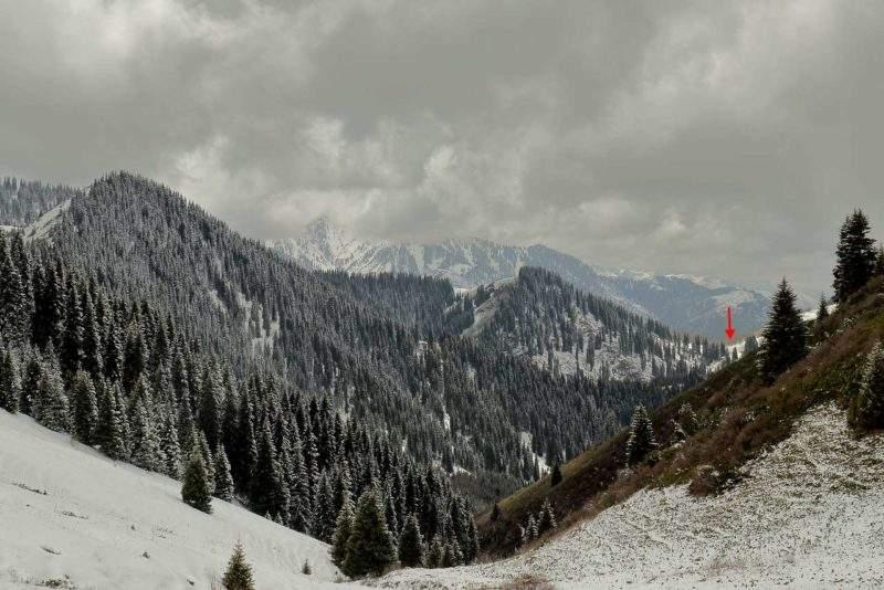 Кимасаровский перевал со стороны Лесного