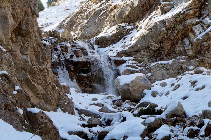 Водопад в Шукуре осенью