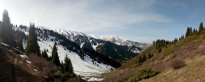 Вид с перевала Лесной (2250 м н.к.)