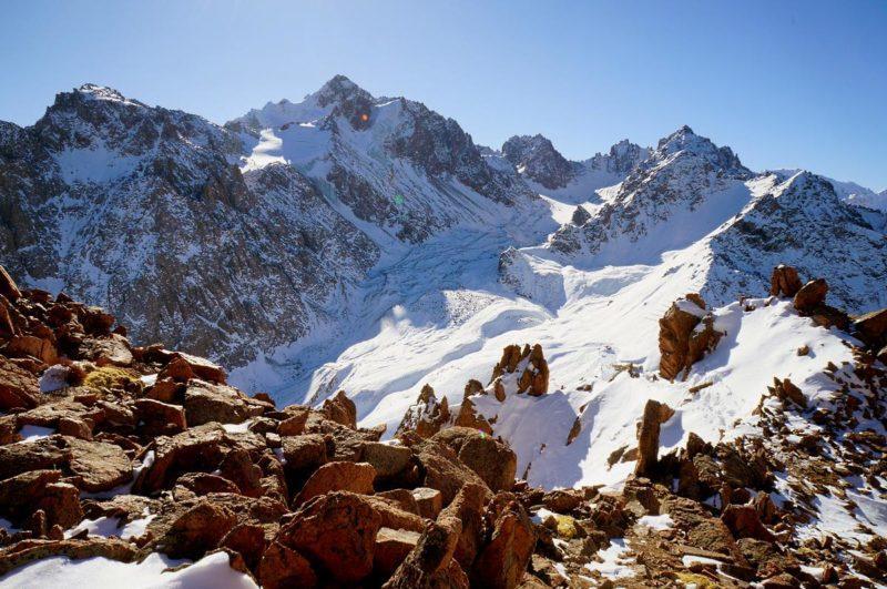 Ледник Богдановича с окружающими его вершинами