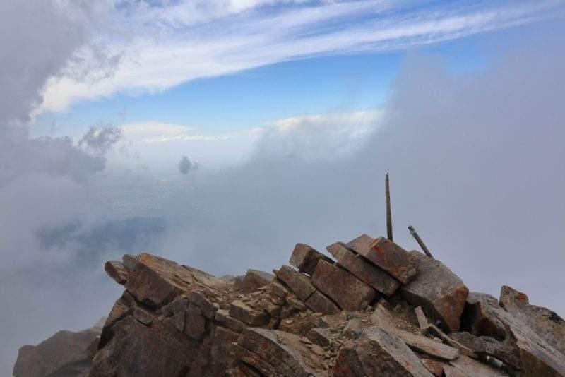 На вершине пика Эдельвейс