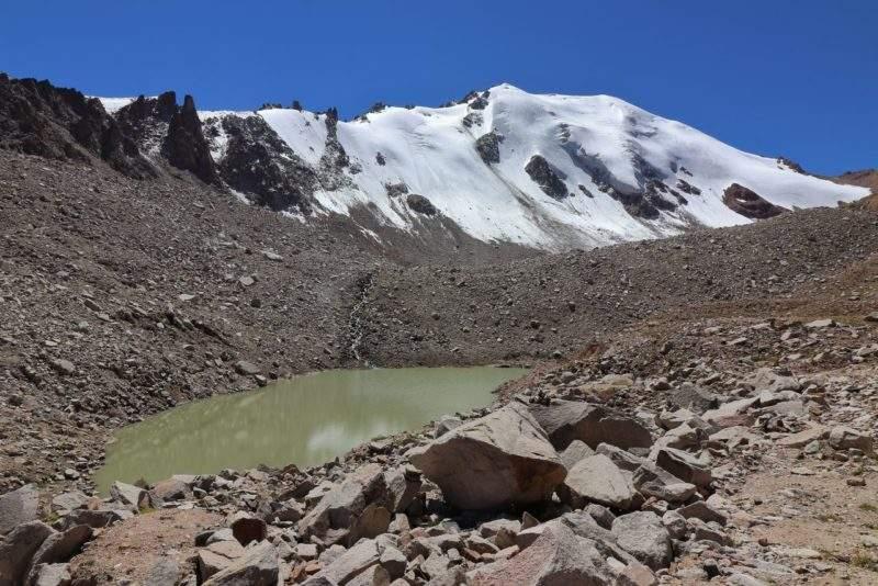 Моренное озеро ледника Молодежный