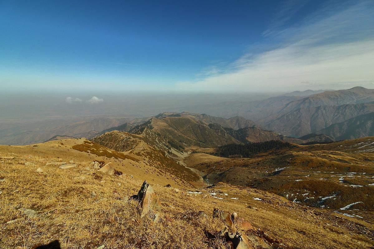 Путь по гребню на Иссыкское озеро