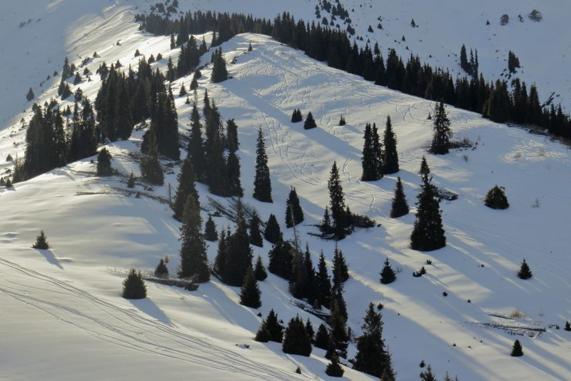 Склон Кумбеля для катания на лыжах, сноубордах