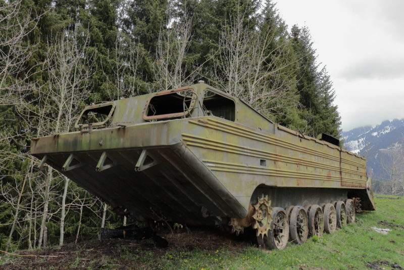 ПТС-М — плавающий транспортер средний модернизированный на Кимасаровском перевале