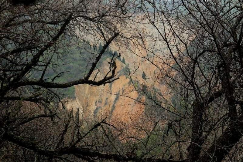Обвал Каменный цветок на спуске с Волчьей горы