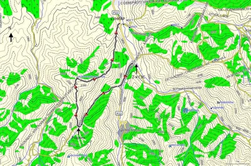 Карта гора Волчья