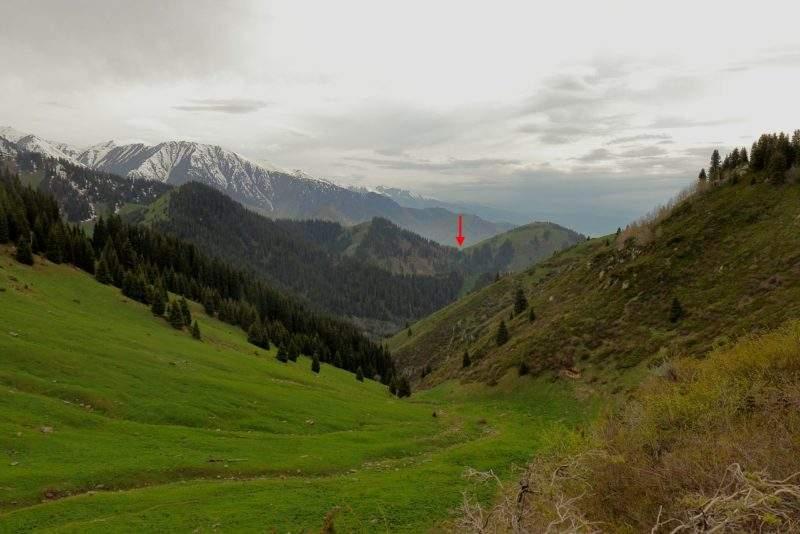 Кимасаровский перевал. Вид со стороны Лесного.