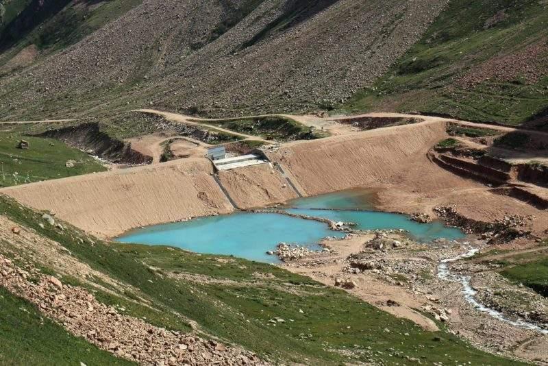 Плотина Мынжилки после реконструкции
