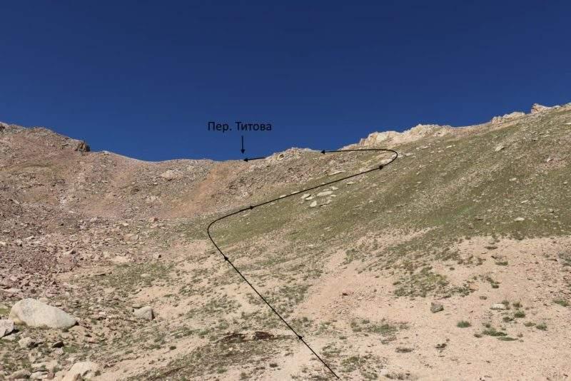 Перевал Титова со стороны Мынжилки