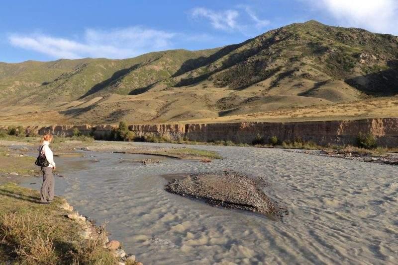 Река Чилик в районе Саты