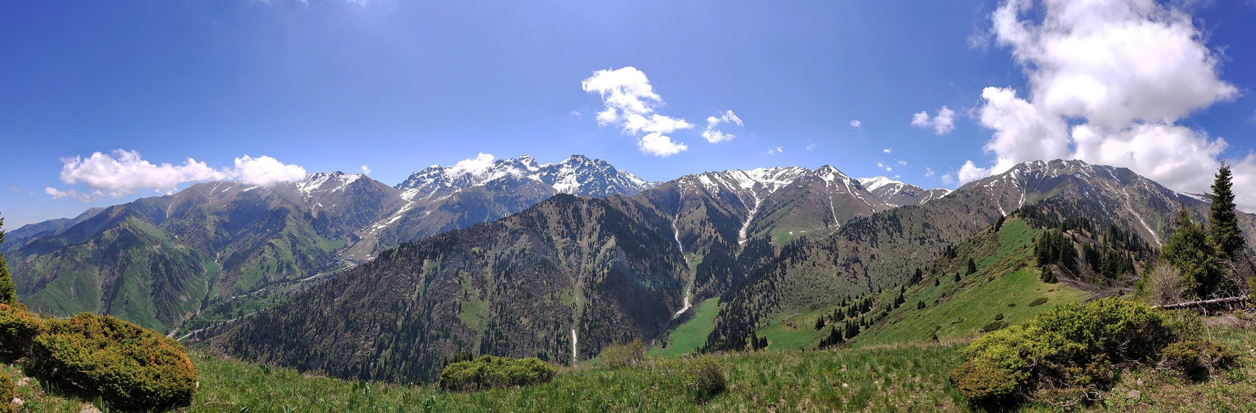Панорама с горы Горелка