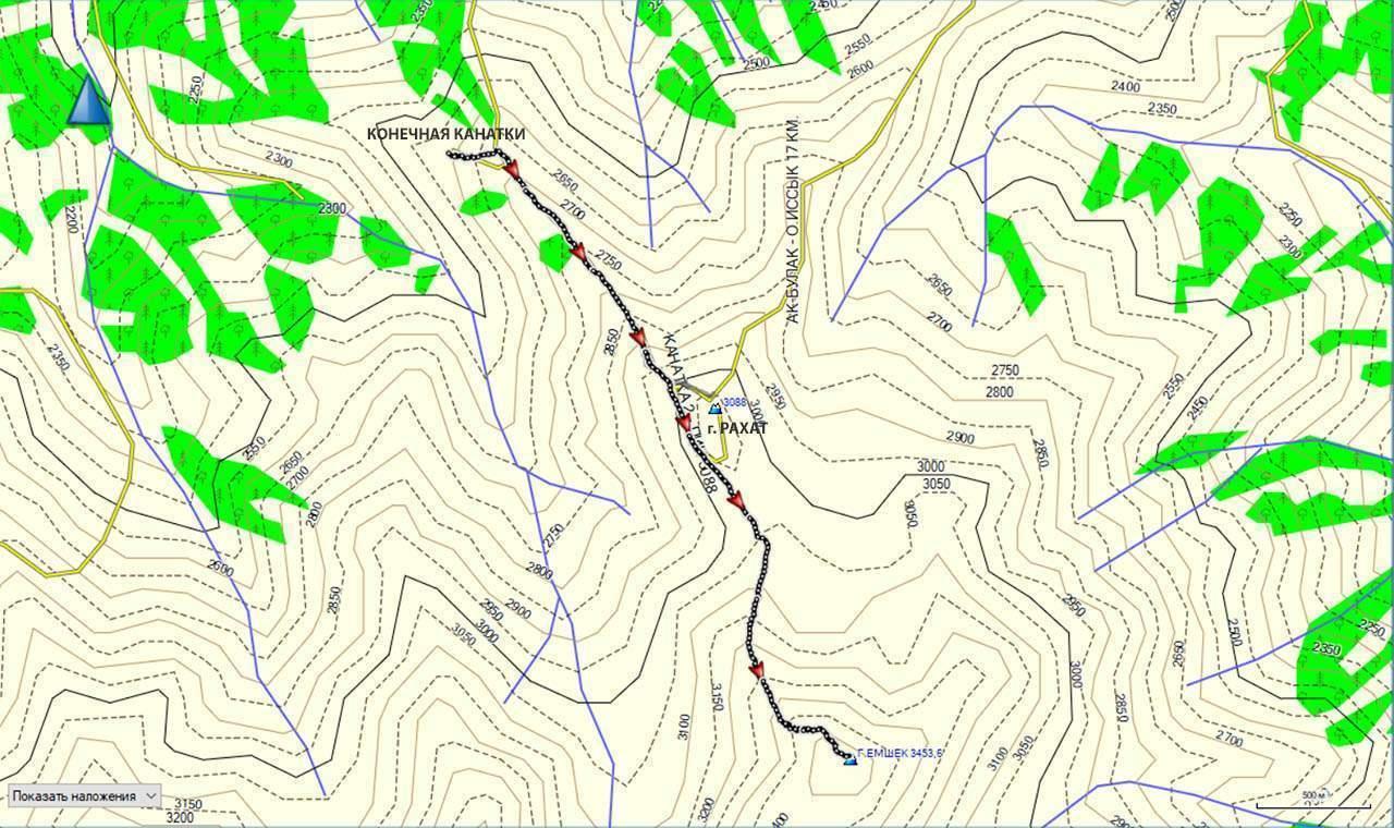 Карта г. Емшек